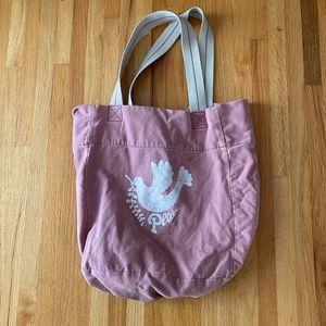Bluenotes Dove Peace Purple Tote Bag